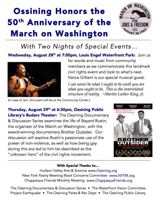 March on Washington, Oss Events V