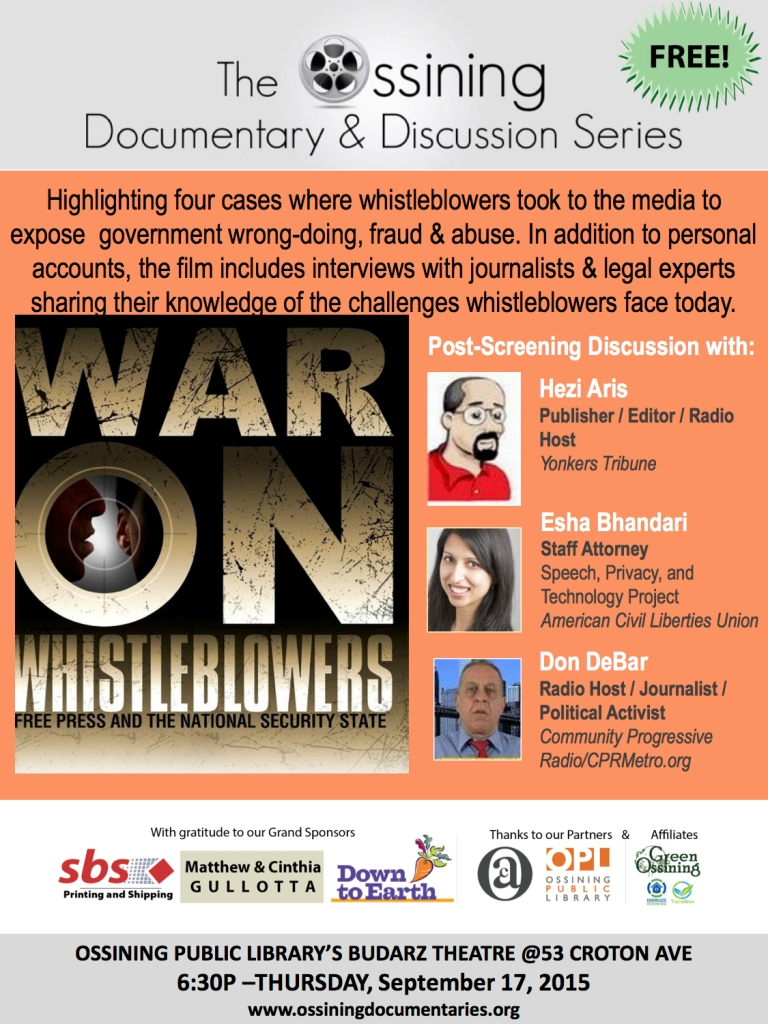 War of the Whistleblowers Poster
