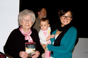 Panelist, Phebe Washburn, is joined by our committee's youngest member, Baby Margot (and her Mama)