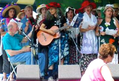 Raging Grannies w Pete Seeger