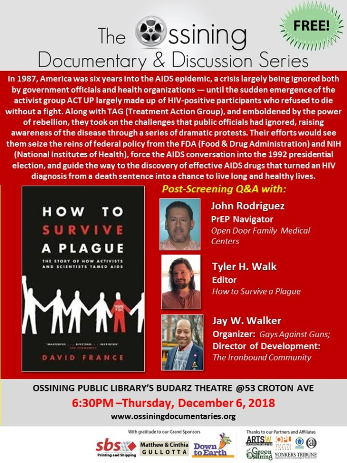 HOw to Survive a Plague 12.6.2018